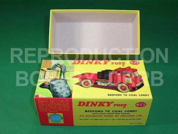 Dinky #425 Bedford TK Coal Lorry - Reproduction Box